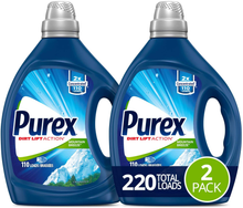 Load image into Gallery viewer, Purex Liquid Laundry Detergent, Mountain Breeze, 2X Concentrated, 2Count, 220 Total Loads