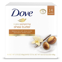 Load image into Gallery viewer, Dove Purely Pampering Beauty Bar for Softer Skin Shea Butter More Moisturizing Than Bar Soap 3.75 oz 14 Bars