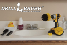 Load image into Gallery viewer, Drill Brush Attachment - Bathroom Surfaces Tub, Shower, Tile and Grout All Purpose Power Scrubber Cleaning Kit –Grout Drill Brush Set – Drill Brushes by Drill Brush Power Scrubber by Useful Products