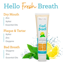 Load image into Gallery viewer, Oxyfresh Maximum Fresh Breath Lemon Mint Toothpaste |SLS & Fluoride Free w/ Natural Essential Oils & Xylitol – Aids Dry Mouth (1- 5 oz Tube)