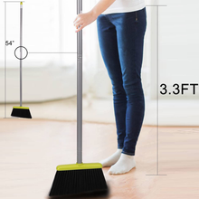 Load image into Gallery viewer, Broom and Dustpan Set, Treelen Broom with Dust Pan with Long Handle Combo Set for Office and Home Standing Upright Sweep Use with Lobby Broom