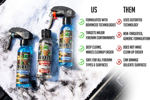 Riptide Armory Advanced Gun Cleaner & CLP+ Graphene 4oz 2 Step Kit - Cleans, Lubes, Protects Targeted Long-Lasting Formula - Nano Coat Technology - Veteran Owned & Formulated by Former US Navy Seal
