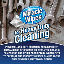 Load image into Gallery viewer, MiracleWipes for Heavy Duty Cleaning (90 Count) - All Purpose Cleaner, Kitchens, Bathrooms, Countertops, Hands, Indoors, Outdoors - Removes Grease, Grime, Crayon, Dirt & More