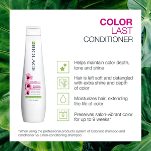 BIOLAGE Colorlast Conditioner | Helps Maintain Color Depth, Tone & Shine | Anti-Fade | for Color-Treated Hair