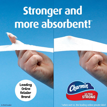 Load image into Gallery viewer, Charmin Ultra Strong Clean Touch Toilet Paper, 24 Family Mega Rolls = 123 Regular Rolls