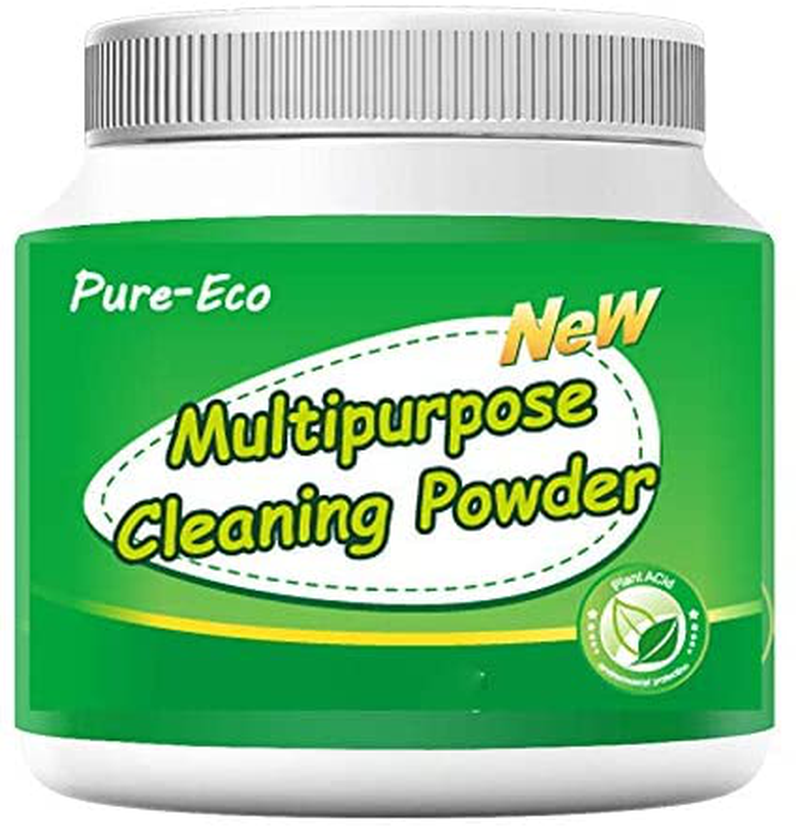 Pure-Eco Toilet Bowl Cleaner Powder, Toilet Tank Cleaner, Bowl Sparkle Powder, for Stubborn Stain of Glass, Porcelain Surface and Washbasin, All-Purpose Household Cleaner (0.8LB)