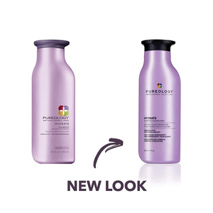 Pureology Hydrate Moisturizing Shampoo | for Medium to Thick Dry, Color Treated Hair | Sulfate-Free | Vegan