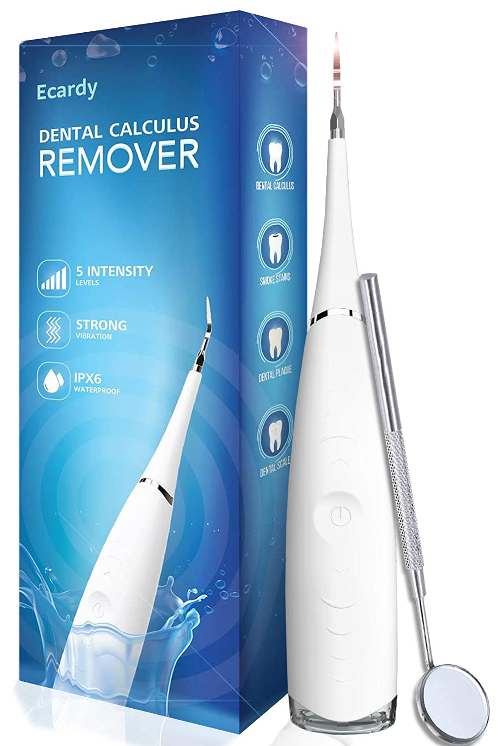 Plaque Remover For Teeth Cleaning Kit - Gum Stimulator - Dental Calculus Remover - Removes Tartar, Calculus, Stain, Plaque - Teeth Cleaning Tool