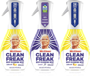 Mr. Clean, Clean Freak Deep Cleaning Mist Multi-Surface Spray, Lavender and Lemon Zest Scent Starter Kit Bundle Pack, 3 Count, 16 fl oz