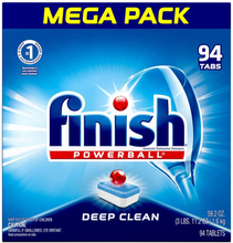 Load image into Gallery viewer, Finish All In 1, Dishwasher Detergent - Powerball - Dishwashing Tablets - Dish Tabs, Fresh Scent, 94 Count Each