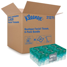 Load image into Gallery viewer, Kleenex Professional Facial Tissue Cube for Business (21271), Upright Face Tissue Box, 6 Bundles/Case, 6 Boxes/Bundle, Pack of 36 Boxes/Case
