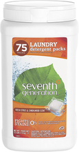 Load image into Gallery viewer, Seventh Generation Laundry Detergent Packs, Fresh Citrus & Sandalwood Scent, 75 Count