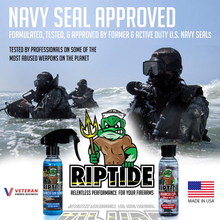 Load image into Gallery viewer, Riptide Armory Advanced Gun Cleaner & CLP+ Graphene 4oz 2 Step Kit - Cleans, Lubes, Protects Targeted Long-Lasting Formula - Nano Coat Technology - Veteran Owned & Formulated by Former US Navy Seal