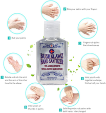 Load image into Gallery viewer, BushKlawz Hand Sanitizer Gel, 24 Pack 2 oz Travel Size, 70% Alcohol - No Rinse, Instant Clean with No Water Needed, 24x 2oz Individual Travel Size Retail Bulk Multi-Pack Refillable Bottles