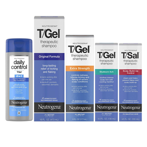 Neutrogena T/Gel Therapeutic Shampoo Original Formula, Anti-Dandruff Treatment for Long-Lasting Relief of Itching and Flaking Scalp as a Result of Psoriasis and Seborrheic Dermatitis, 16 Fl. Oz
