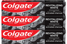 Load image into Gallery viewer, Colgate Activated Charcoal Teeth Whitening Toothpaste with Fluoride, Natural Mint Flavor, Vegan - 4.6 ounce (2 Pack)