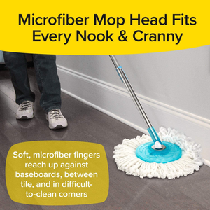 Hurricane Spin Mop Home Cleaning System by BulbHead, Floor Mop with Bucket Hardwood Floor Cleaner