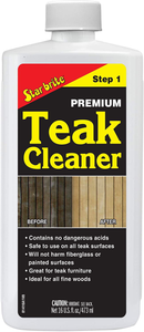Star Brite Premium Teak Cleaner - Restore, Renew & Refresh Old Weathered Gray Teak Furniture & Other Fine Woods