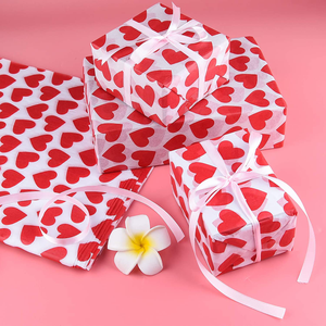 CHRORINE 45 Pcs Valentine's Day Tissue Paper, Gift Wrapping Tissue Paper,Sweet Heart Design Gift Wrap Paper,Big Size Gift Wrapping for Valentine's Day,Wedding, DIY Crafts Gift Decorations