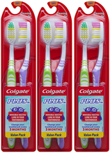 Load image into Gallery viewer, Colgate Plus Soft Toothbrushes with Tongue Cleaner, 6 Count