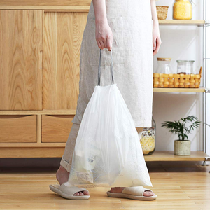 2 Gallon Drawstring Trash Bags,Small Kitchen Garbage Bags Strong Small Trash Bag for Kitchen Bathroom Bedroom Office 19 X 17 inch,200 Counts White