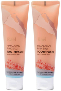 Rael Himalayan Pink Salt Toothpaste - Natural, Vegan, Paraben-Free, Anti-Cavity, Fresh Breath, Oral Care, Fresh Soothing Mint, 240g (Tube)