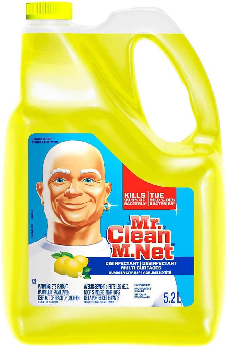 Mr. Clean Summer Citrus Liquid Multi Purpose Cleaner, 176 Fl.Oz / 5.2 L