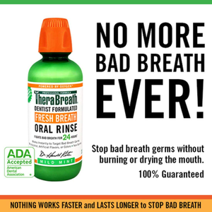 TheraBreath Fresh Breath Oral Rinse, Mild Mint, 16oz Bottle (Pack of Two)