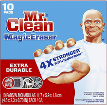Load image into Gallery viewer, Mr. Clean Magic Eraser Extra Durable, Cleaning Pads with Durafoam, 10 Count