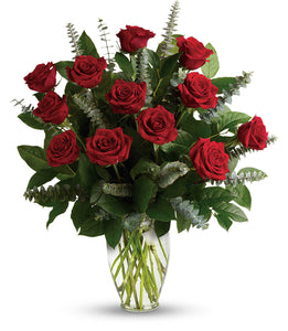 Premium Dozen Long Stem Red Roses - Valentine's Day Flowers