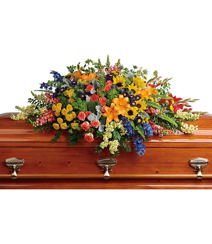 Colorful Reflections Casket Spray - Sympathy and Funeral Flowers