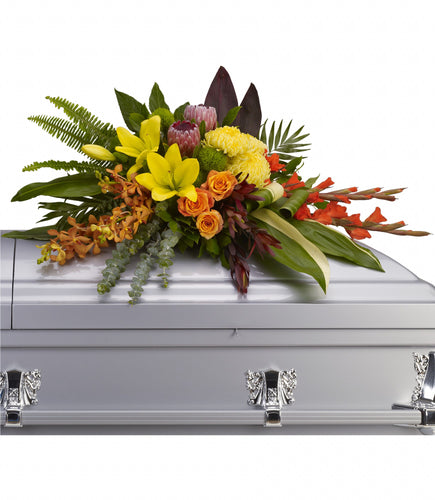 Island Memories Casket Spray - Sympathy Flowers