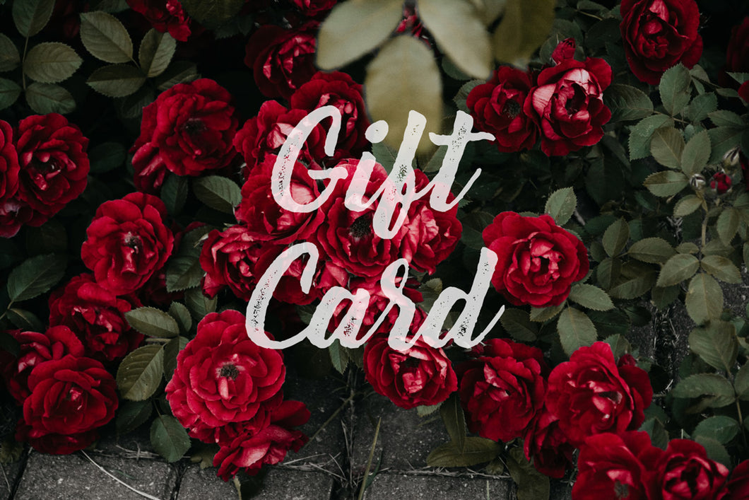 Digital Gift Cards ($50, $100, $200, $300, or