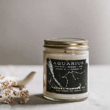 vessel candle co. aquarius zodiac soy candle