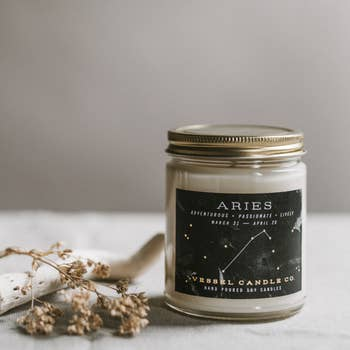 Vessel Candle Co. Aries Zodiac Soy Candle