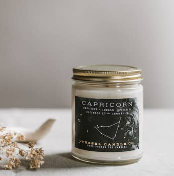 vessel candle co. capricorn zodiac soy candle