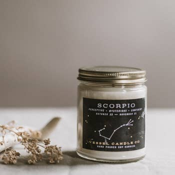 Vessel Candle Co. Scorpio Zodiac Soy Candle