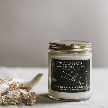 Vessel Candle Co. Taurus Zodiac Soy Candle