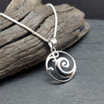 Load image into Gallery viewer, sterling silver wave necklace