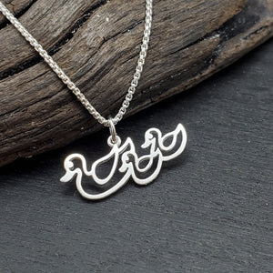 Sterling Silver Duck Necklace