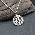 Load image into Gallery viewer, Sterling silver compass necklace