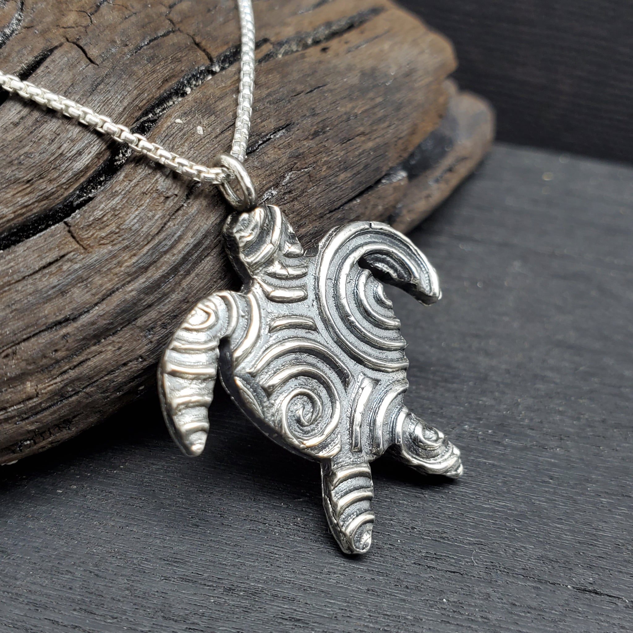 Fine Silver .999 Turtle Necklace