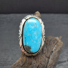 Native American Navajo Sterling Silver Turquoise Statement Ring size 5