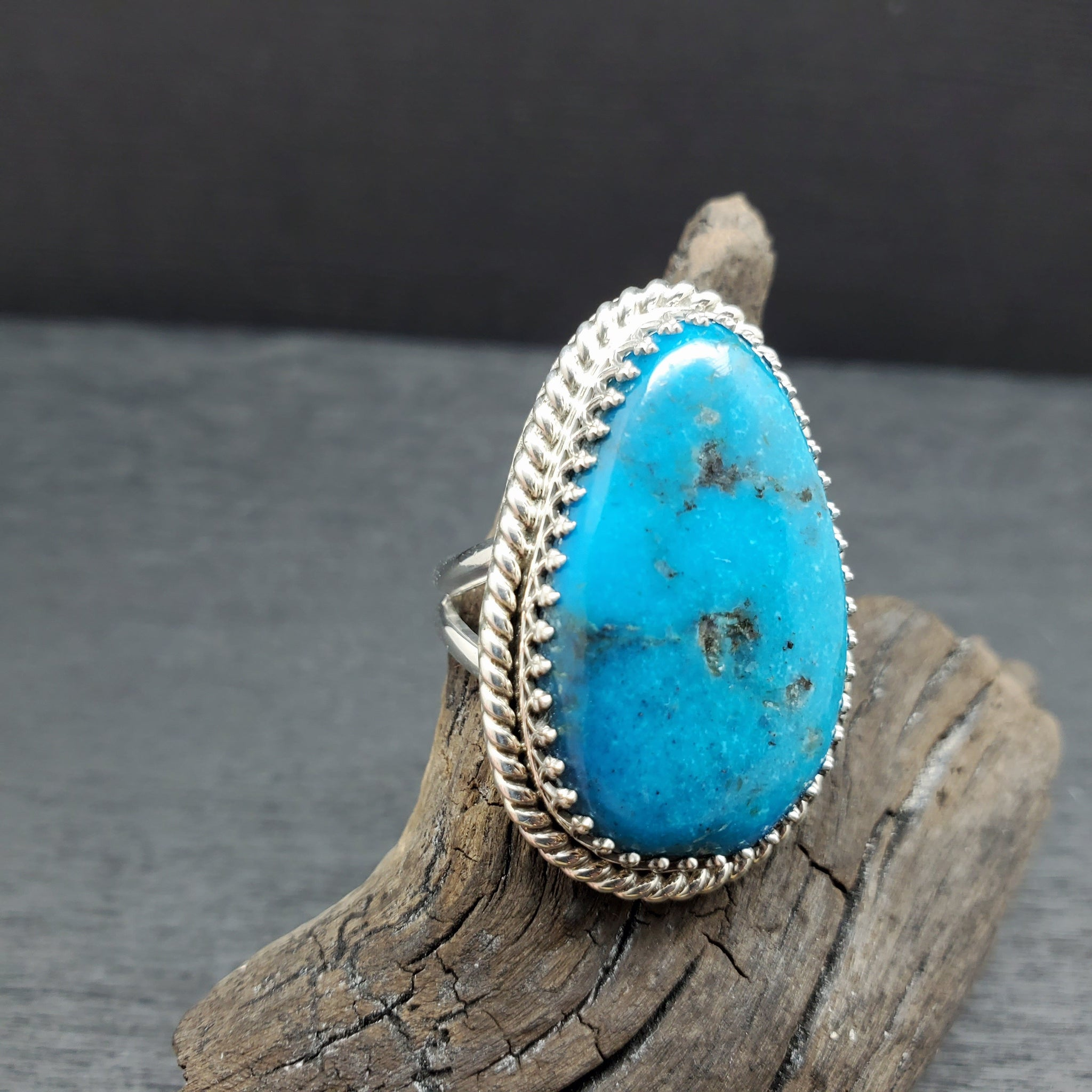 Sterling Silver Turquoise Adjustable Statement Ring