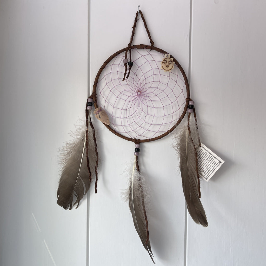 dream catcher Native American handmade with arrowhead and turtle talisman