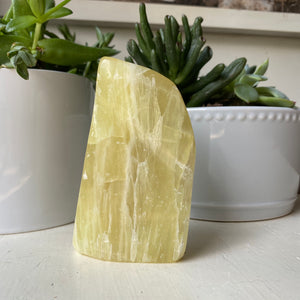 Lemon Calcite Free Form