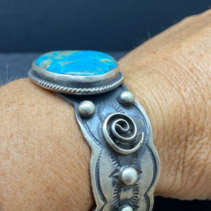Sterling Silver Turquoise Statement Cuff by Chimney Butte & Jessie Claw