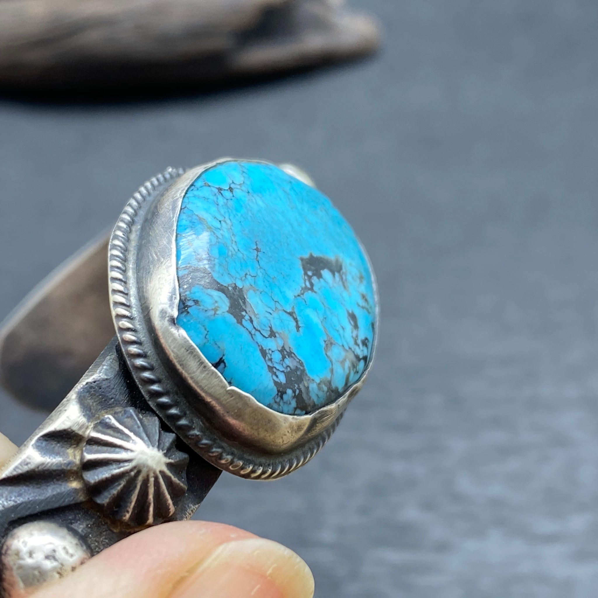 Sterling Silver Turquoise Oxidized Cuff by Chimney Butte