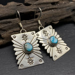 Load image into Gallery viewer, sterling silver Navajo stamped earrings