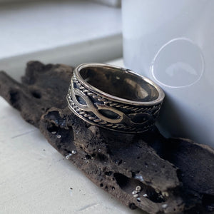 sterling silver size 12 band ring